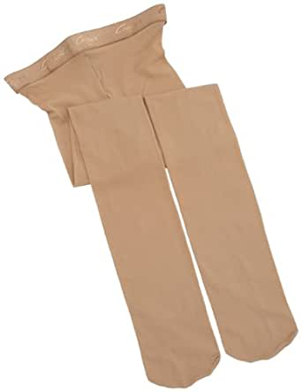 Capezio Big Girls' Hold & Stretch Footed Tight,Caramel,M (8-10)