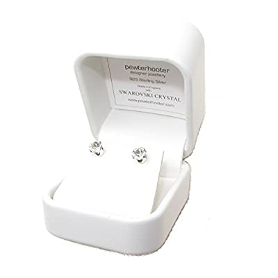 End of line clearance. 925 Sterling Silver stud earrings expertly made with sparkling crystal from SWAROVSKI® for Women. Luxury box.