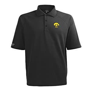Iowa Hawkeyes Antigua Mens Whisper Xtra-Lite Polo by Antigua