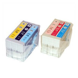 Genuine original Epson Ink jet print Cartridge set (T 0781/0782/0783/0784/0785/0786: black/cyan/Magenta/yellow/light cyan/light magenta) for Epson stylus photo RX-580 RX-595 RX-680 R-260 R-280 R-380 Artisan 50 All-in-one AIO (scan/fax/copy/print) inkjet c