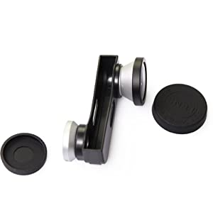 Silver 3-in-1 Photo Lens Kit for Apple iPhone 5 180° Fish Eye Lens+Wide Angle Lens+Macro Lens