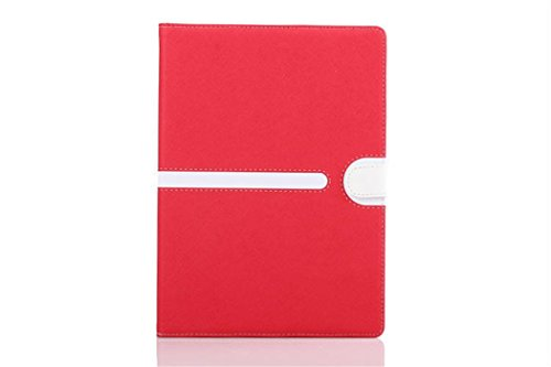 Apple Ipad Air 2 Case Borch Fashion Luxury Multi-Function Protective Leather Light-Weight Folding Flip Smart Case Cover For For Ipad Air 2 (Red)
