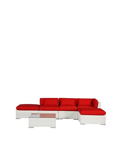 Kardiel Aloha Poipu Outdoor Sofa Sectional Chaise 6-Piece Set