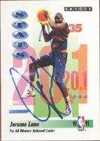 Jerome Lane Denver Nuggets 1991 Skybox Rebound Leader Autographed Hand Signed Trading... by Hall+of+Fame+Memorabilia