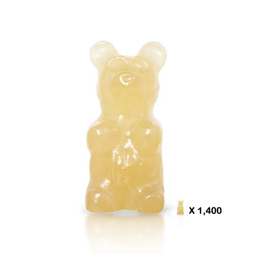 WhatTheDevil's Giant GummyDevil (The World's Largest Gummy Bear!) - Pineapple flavor (Worlds Biggest Gummy Bear compare prices)