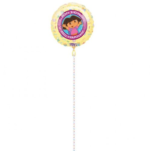 Dora the Explorer Birthday Party Clip-A-Strip Foil Birthday Party Balloons