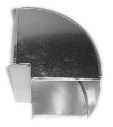 Midwest Ducts 116 Shortway Vertical 90 Degree Elbow - 14