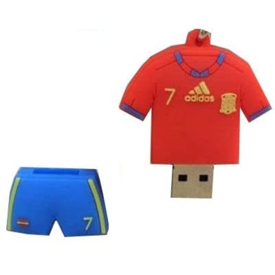 Microware 8GB Football Jersey Shape USB 2.0 Flash Drive (Red/Blue)