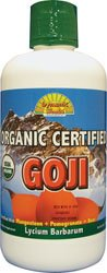 Dynamic Health Organic Certified Goji Juice Blend 