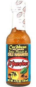 El Yucateco Caribbean Hot Sauce Chile Habanero 4 oz. (pack of 12)