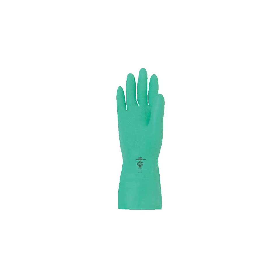 X-Large Chemical Resistant 22 mils Thick Showa Best 737 Nitri-Solve Unlined Nitrile Glove Pack of 12 Pairs 15 Length by Showa Best Glove