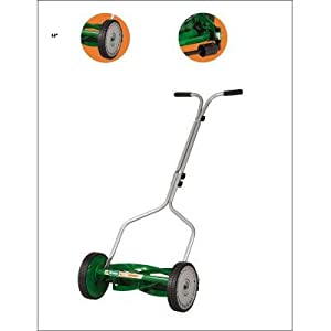 Scotts 304-14S 14-Inch Economy Push Reel Lawn Mower with T-Style Handle and Heat-Treated Blades by Great States