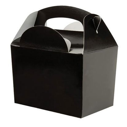 10 Pack of Cute Favour Gift Boxes in Black