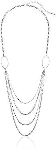 t-tahari-silver-multi-chain-layered-strand-necklace