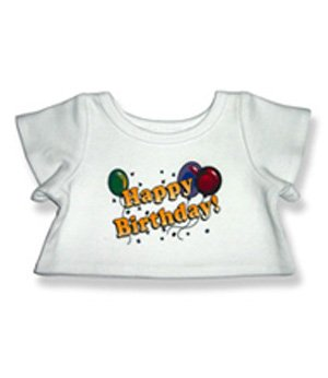 Happy Birthday T-Shirt Outfit Teddy Bear Clothes