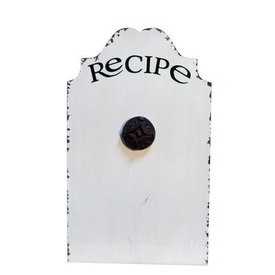 Metal Recipe Holder Magnetic Wall Mounted Bulletin Board, 1' x 1' (Recipe Board compare prices)
