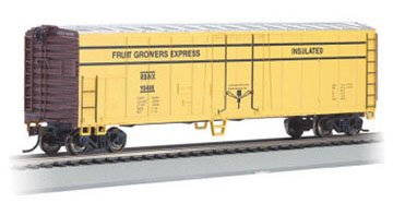Bachmann Trains Fruit Grower's Express 50' Steel Refrigerated Car-Ho Scale