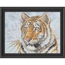 Bucilla Heirloom Collection Siberian Tiger 12 Inch by 16 Inch Counted Cross  Stitch Kit 1a13d75e2