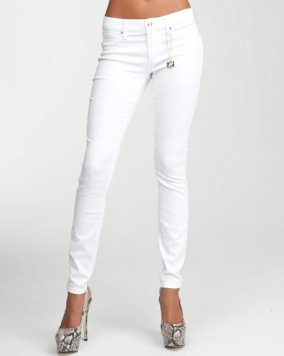 bebe Logo Icon Skinny Jean - OPTIC WHITE (26)