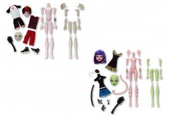 Imagen 1 de Monster High Y6608 - Crea tu monstruo, accesorios para muñecas
