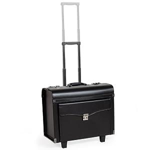 TecTake Business Trolley Flight Pilot´s Case Suitcase wheeled Bag lockable black