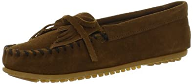 Minnetonka Women's Kilty Moccasin,Dusty Brown,5 M US
