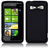 HTC 7 TROPHY BLACK SOFT SILICONE CASE / COVER / SKIN / SHELL - PART OF THE CONSUMER STORE ACCESSORIES RANGE
