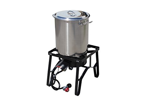 Concord Home Brew Stainless Steel Kettle with Single Burner Stand Set (30 Quart) (Home Brew Kettle compare prices)