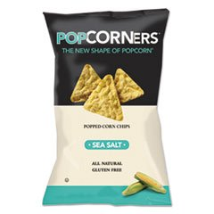 ** Popcorners Popped-Corn Chips, Sea Salt, 5oz Bag, 12/Carton ** bulk save santa cruz organic mint chocolate syrup 12 to 48 packs each 15 5oz