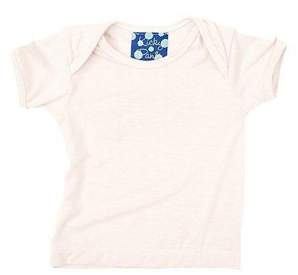 Kickee Pants Short Sleeved Tee, Natural, Newborn front-325085