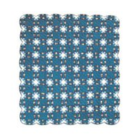"Blue Double Wedding Ring Quilt Luxury King 120"" x 106"" QLKBDWR by Patch Magic"
