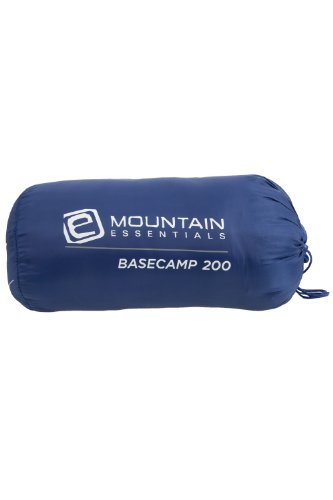 Basecamp 200 One 1 Season Summer 1kg Lightweight Camping Single Sleeping Bag - Colour Blue Size One Size