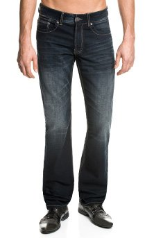 Paddock's Madison Jeans in Überlänge, blue black vintage stone used, W34-L38