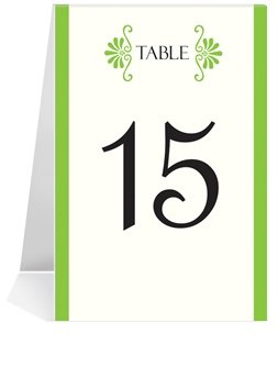 Wedding Table Number Cards - Greek Twin Palm Set #1 Thru #48 front-63919
