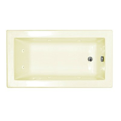 "Guadeloupe 32 X 60 X 23"" Rectangular Whirlpool Jetted Bathtub Color/Trim: White / Polished Brass, Drain: Left"