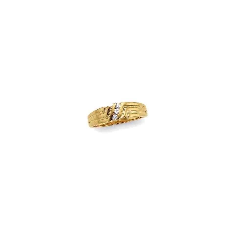 14K Yellow Gold Diamond Wedding Band Ring
