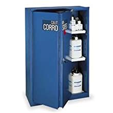 "Eagle CRA-45 Acid/Corrosive Safety Cabinet, Sliding, 1 Door, Two Shelves, 43"" Width x 65"" Height x 18"" Depth, 45 Gallon Capacity"