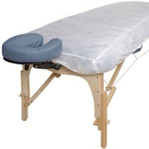 Charming bed facial massage sheet spa table not clear