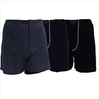 Gomati - 3'er Pack Basic-Boxershorts / Schwarz/Marine/Indigo, 6 / L