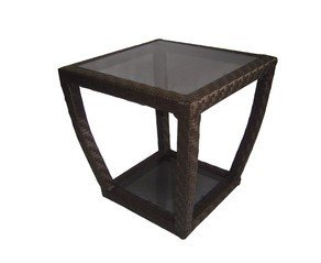 Lawley Style 20.5-in x 20.5-in Square Patio Side Table photo