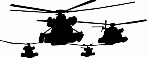 Design with Vinyl Design 174 Helicopters Picture Art - Peel and Stick Vinyl Wall Decal Sticker, 14-Inch By 30-Inch, Black