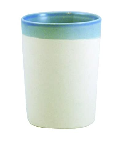 Canvas Home Shell Bisque Tumbler, Light Blue/Beige
