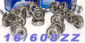 16 inline/Rollerblade Skate Bearing:ABEC-7:Shielded