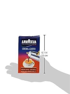 Lavazza Crema e Gusto Ground Coffee, Italian , 8.8-Ounce Bricks ( (pack of 8) from LAVAZZA