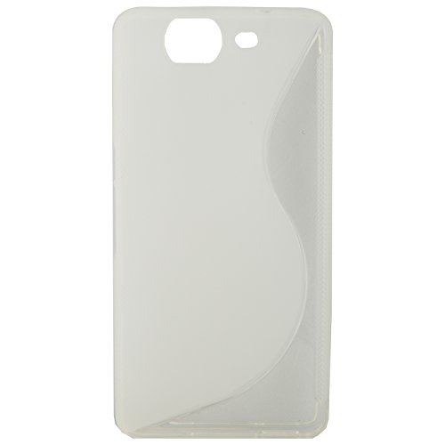 For Micromax Canvas Knight A350 Phone Soft TPU Rubber Bumper S Line Premium Back Case Cover - Transparent