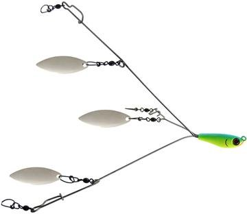 Bomber Saltwater Grade 3 Wire Flash Fishing Rig - Citrus Shad