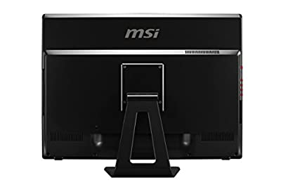 MSI 24GE 2QE 4K-002US 23.6-Inch Gaming Desktop (Black/Red)
