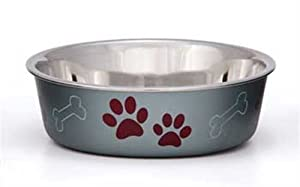 Loving Pets Metallic Bella Bowl for Pets, Small, 1-Pint, Blueberry