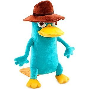 Disney Phineas and Ferb Perry Plush - 10inch mini bean Agent P Perry Stuffed Animal