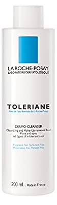 La Roche-Posay Toleriane Dermo Cleanser and Makeup Remover for Sensitive Skin with Glycerin, 6.76 Fl. Oz.